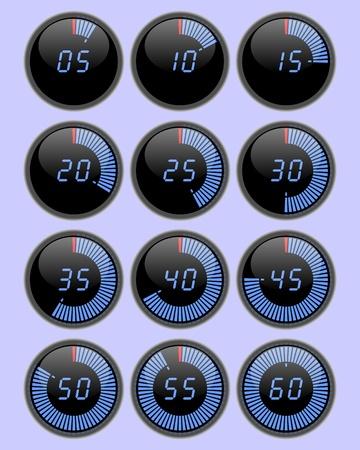 metering: Digital round stopwatch   Illustration