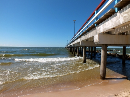 Pier in Palanga, Lithuania   Stock Photo