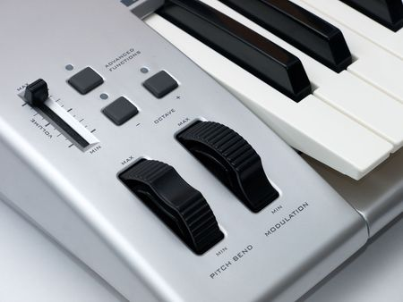 Control Panel Of Midi Keyboard Close Up photo