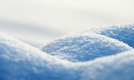 Fluffy Snowdrift In Cold Winter Day