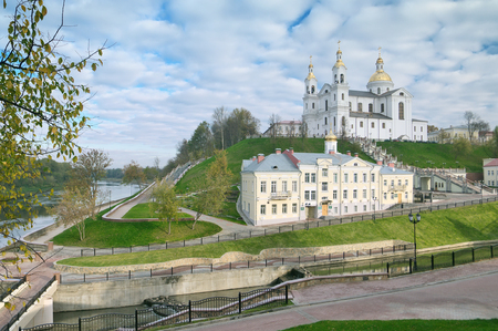 The Lord Transfiguration Cathedral  And Svyato-Duhov Monastery In Vitebsk Belarus
