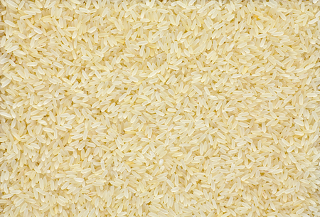 Parboiled rice dry food close up texture Stockfoto