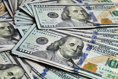 Dólar de los Estados Unidos 2009 Series Focus apilamiento cerca de fondo Foto de archivo