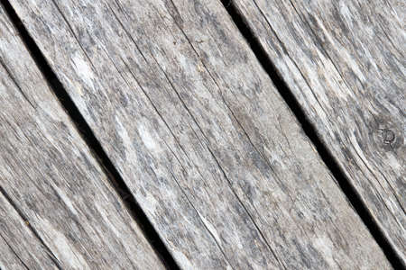 Old weathered washed tainted wood texture with diagonal cracks and twig. Natural textured closeup dry plank background.