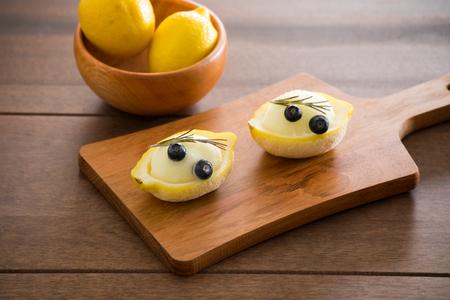sherbet: Lemon sherbet Stock Photo