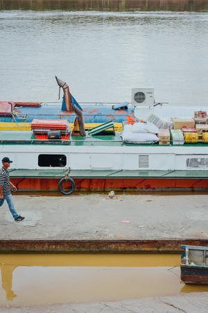 zooming to the passenger boat, Sarikei Sarawak