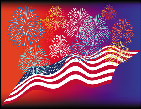 Illustration for USA. Day of independence. Vector