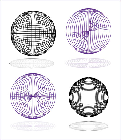 Illustration: original globe elements-spheres Stock Vector - 7406305