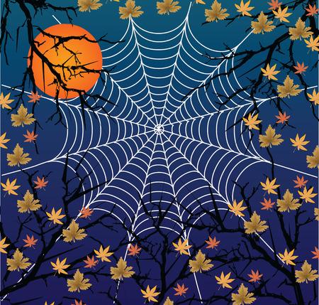 halloween invites to a holiday Illustration