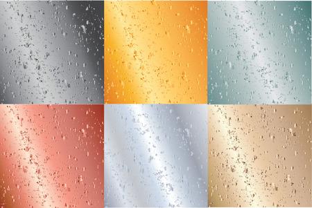 oxidized: Set of old grunge metallic plates-vector illustration- SIMILAR