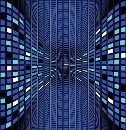 Mosaic color illustration vector design Vector