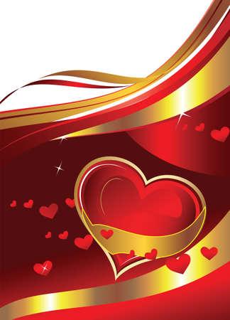 beautiful postcard valentines Vector