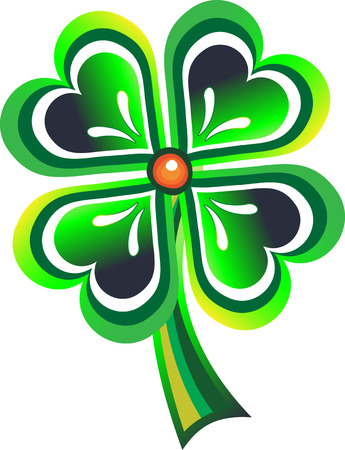 Clover by a holiday St. Patrick's Day Stock Vector - 8823697