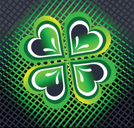 Clover by a holiday St. Patricks Day Vector