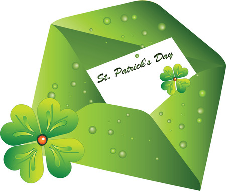 Envelope with the letter St. Patrick's Day Stock Vector - 8823695