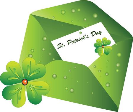 Envelope with the letter St. Patricks Day Illustration