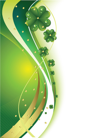 lucky day: Beautiful abstract background St. Patricks Day