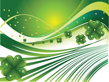 Beautiful abstract background St. Patricks Day Vector