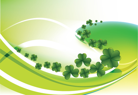 clover leaf shape: Clovers by a holiday St. Patricks Day Illustration