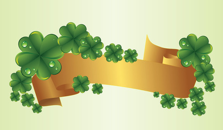 Clovers by a holiday St. Patricks Day Illustration
