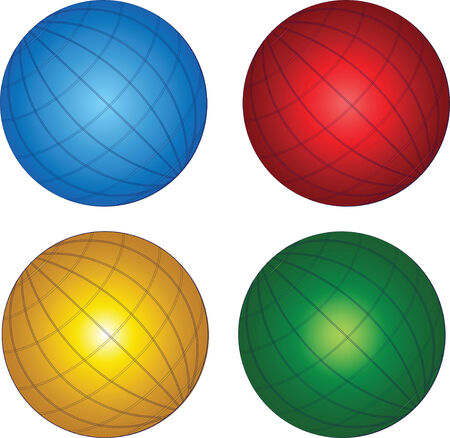 Illustration: original globe elements-spheres Stock Vector - 9065231