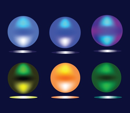 Burning multi-colored spheres Stock Vector - 9341452