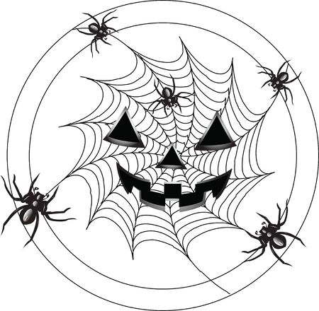 spidery: Terrible spiders in creep on a web