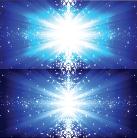 shining star: Abstract winter background with stars