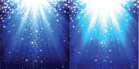 Abstract winter background with stars