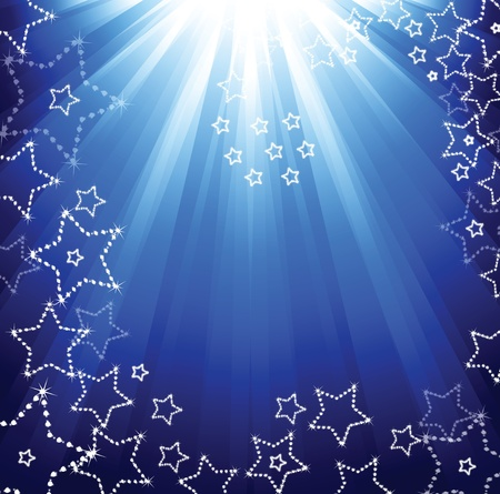 transparence: Abstract winter background with stars