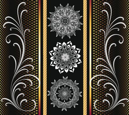 White snowflakes on a black background