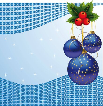 sweeps: Christmas toys on a blue background