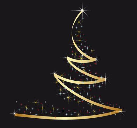 furtree: Golden Christmas fur-tree
