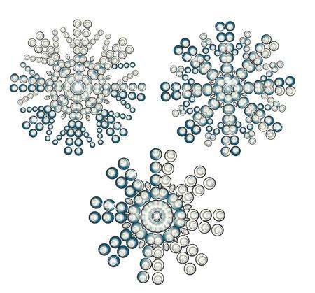 asterisk: Christmas beautiful snowflakes Illustration