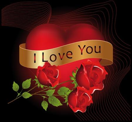 dessin coeur: Coeur rouge envelopp� dans le vol