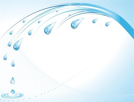 reflectie water: Water druppels - abstracte achtergrond met plaats voor uw tekst Stock Illustratie