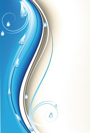 reflejo en el agua: Primavera de fondo con las gotas de lluvia Vectores