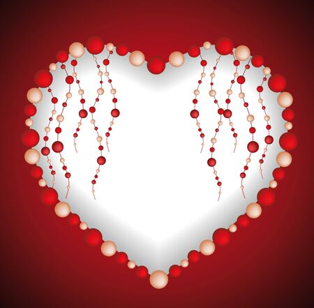 Heart from beads Vector