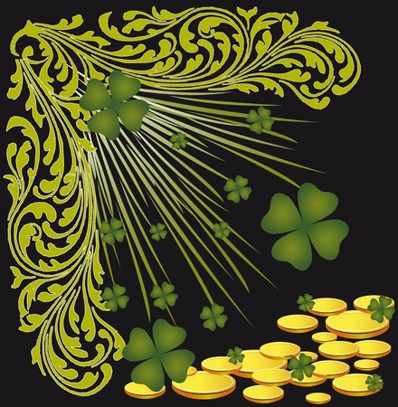 St. Patricks Day. Beautiful card by a holiday Vector