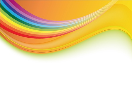 Abstract gentle background with a rainbow