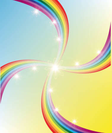 Abstract background. Multi-colored rainbow Vector