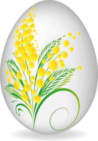 mimosa: Easter painting egg