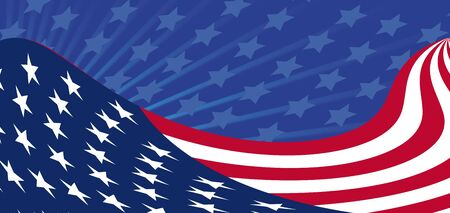 abstract background by an Independence Day of America Vector