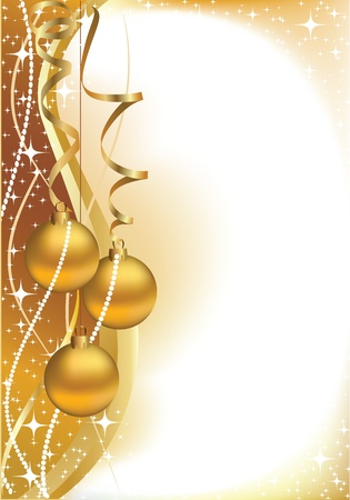 New Year's card for Christmas Stock Vector - 15801376