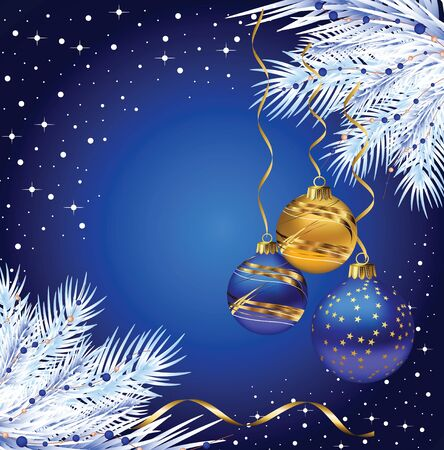 firtree: Christmas fir-tree with beautiful balls Illustration