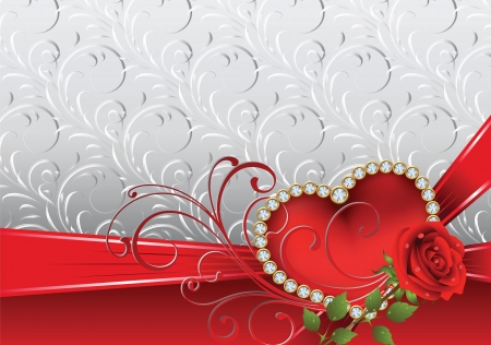 Festive card to St.Valentine Vector