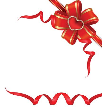 coeur diamant: Carte pour la Saint-Valentin. Saint Valentin Illustration