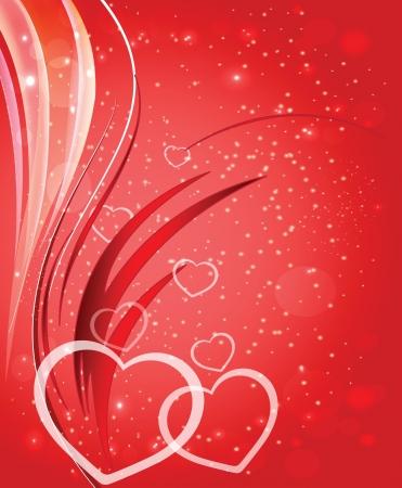 Card to St  Valentine  Valentine Stock Vector - 17594123