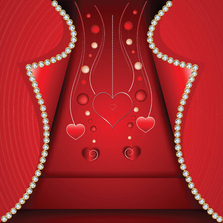 Card hearts by a St. Valentine's Day Stock Vector - 24814385