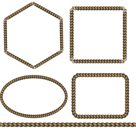 Collection of rope knots Illustration